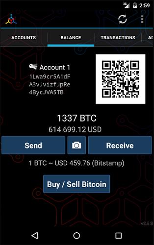 sending bitcoin on mycelium wallet