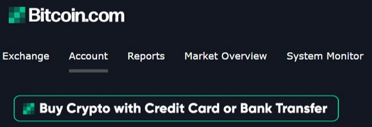 Buy Crypto with credit card button